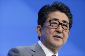 """Prime Minister Shinzo Abe: """"There is a certain atmosphere and environment in companies or society which make [men] feel it is difficult to take [paternity leave]."""