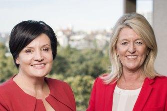 NSW Labor Party leader Jodi McKay (left) and her deputy, Yasmin Catley.