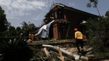 Emergency services cleaned up storm damage in Sydney's north west on Sunday afternoon.
