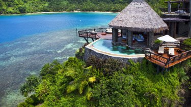 Laucala Island Resort in Fiji, where rooms costs as much as $24,000 a night.