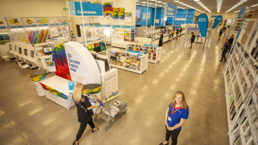 Officeworks' Mentone store is the largest in the country.