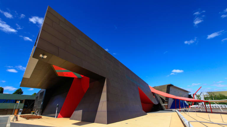 The National Museum of Australia's permanent building on Acton Peninsula.