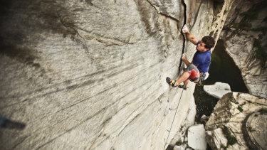 Duncan climbing in Xi'an, China.