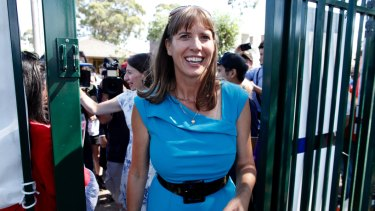 Winning smile: Wendy Lindsay has claimed victory in East Hills, taking the Coalition's tally to 48.