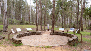 The new Stringybark Creek Memorial.