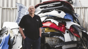 Owner of Braddon Smash Repairs, Jeff Badcoe, has a massive backlog in jobs partly due to the number of animal collisions.