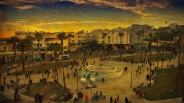 The Gran Socco, or grand square, in Tangier by Bryan Dawe.