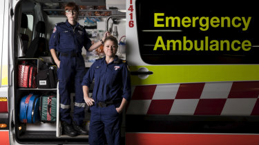 NSW Ambulance early career paramedic Clare Price and Assistant Commissioner Clare Beech. The government is set to announce 750 new paramedics in next Tuesday's budget.