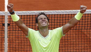 Rafael Nadal seals the win.