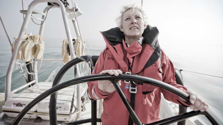 Wendy Tuck, seen here competing in the 2015-16 Round the World Yacht Race, won this year's event as skipper of Sanya Serenity Coast.