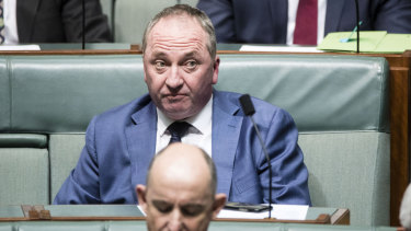 Former agriculture minister Barnaby Joyce.