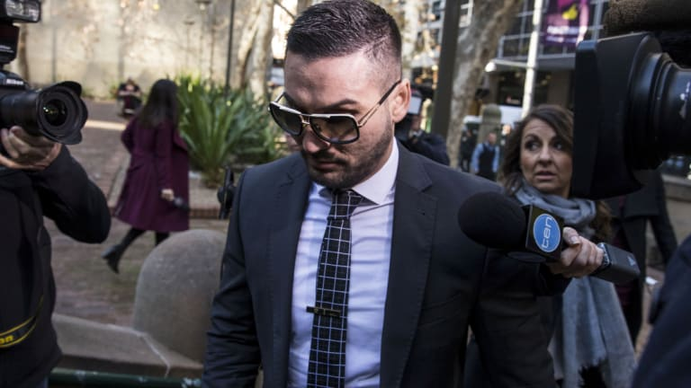 Salim Mehajer arriving at court on Thursday.