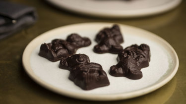 This version of the Caramello Koala, at Bea Restaurant in Barangaroo, is filled with wattle seed caramel.