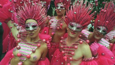 Over the years since 1978, there has been much colour and movement in the Sydney Mardi Gras.