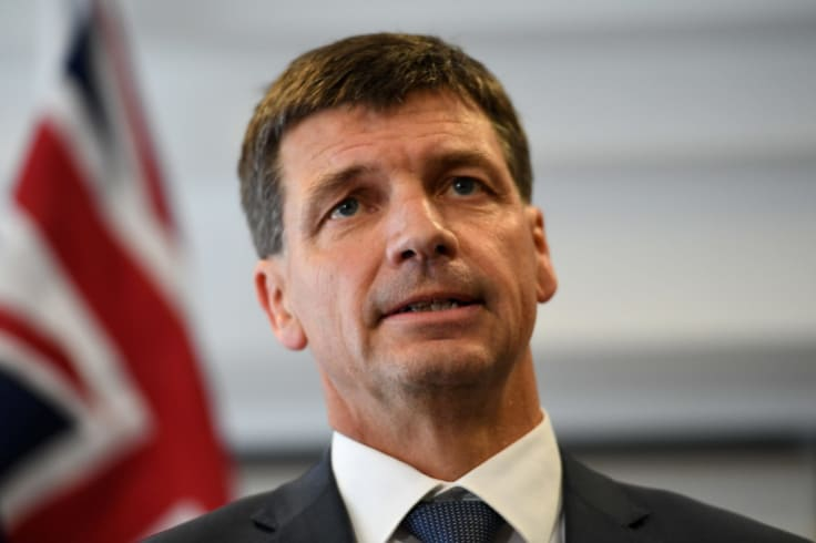 "Federal Energy Minister Angus Taylor described Labor's battery policy as a ""handout""."