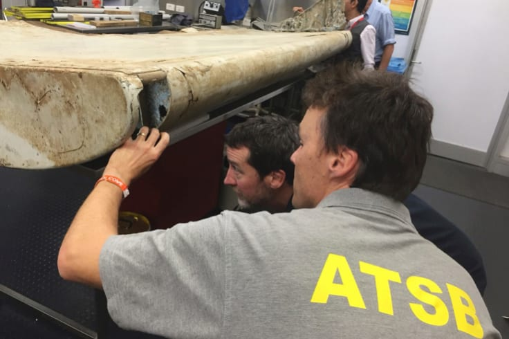 A flap found off the coast of Tanzania was a crucial piece of evidence, ATSB's Peter Foley said.
