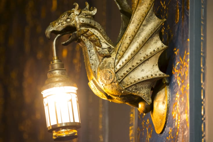 Lantern-bearing dragons have replaced the Princess Theatre's crystal light fittings.