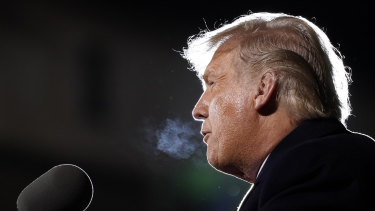 The Australian sharemarket plunged in the final hour of trade on news US President Donald Trump and his wife Melania contracted the coronavirus just a month out from the November presidential election.