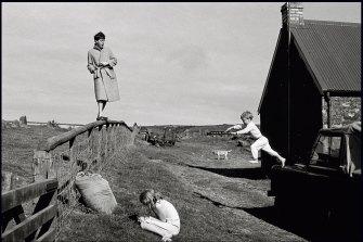 Paul, Stella and James, Scotland, 1982.
