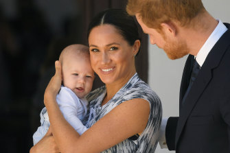 Prince Harry and Meghan Markle with baby Archie in 2019.
