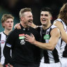 Nathan Buckley has reasons to smile.