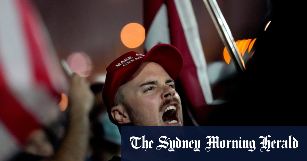 'Stop the count!': Angry Trump supporters amass at counting centres – Sydney Morning Herald