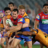 Frustrations spill over as Broncos implode and Knights stroll