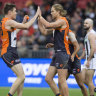 Patched-up Giants stun frozen Pies to roar back to life
