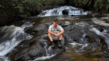 Rod Falconer is concerned that logging will affect the turbidity in the water.