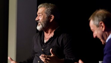 Mel Gibson at an In Conversation session with Garry Maddox at Sydney Film Festival in 2016.