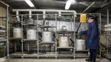 A Lithium Australia testing lab.