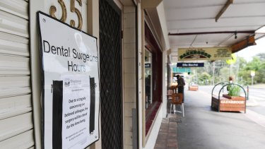 The Glenbrook dental surgery where Preethi Reddy worked was closed on Wednesday.