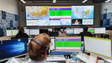 Staff at the Education Department's new Incident Support and Operations Centre work around the clock to respond to emergencies in Victorian schools.