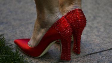 Julie Bishop's now-famous red shoes.