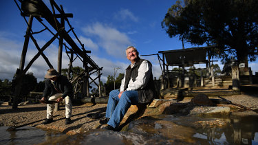 Peter McCarthy at Sovereign Hill in Ballarat, the town that kicked off Victoria's goldrush in the 19th century.