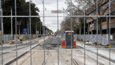 Upgrades to Nicholson Street have stalled.