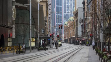 Sydney's CBD resembles a ghost town as the lockdown continues.
