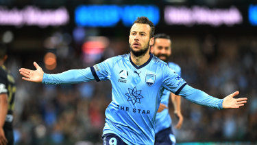 On fire: Adam Le Fondre has found his scoring touch early at Sydney FC.