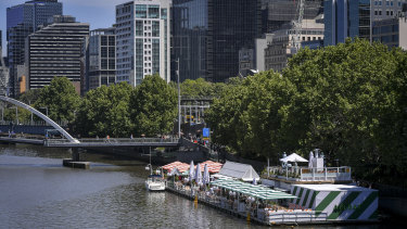 Melbourne's favourite floating bar Arbory Afloat.