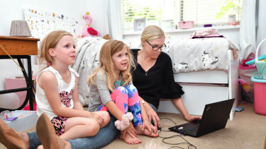 Kimberley Knapptook her 5-year-old daughters Isla and Millie out of school indefinitely due to coronavirus fears.