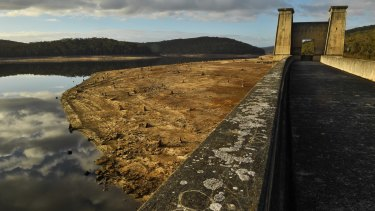 Cordeaux Dam is now about 41 per cent full, down from almost 94 per cent a year ago.