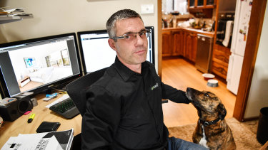 Richard Jeney with his dog, Hux, says those doing physical jobs need to think of ways to keep working when they are older.
