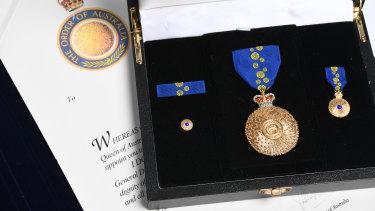 The Order of Australia medal.