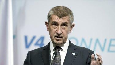 Czech Prime Minister Andrej Babis .