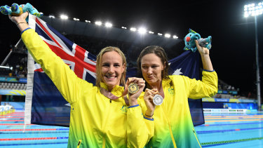 Bronte and Cate Campbell want more moments like this when they swim in Tokyo, regardless of the health risk.
