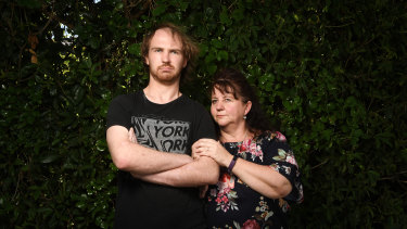 Sam Mogford with his mother Sally.