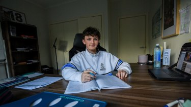 Year 12 student Frank Bevacqua, is happy to be returning to the classroom on Friday.