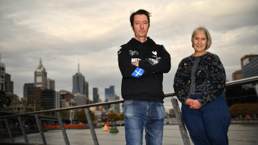 Victorian Socialists candidates Stephen Jolly and Sue Bolton.