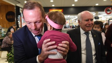 Former prime ministers Tony Abbott and John Howard have been friends for 30 years.