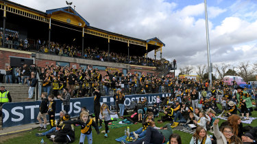 Richmond fans at Punt Road Oval during last year's grand final.